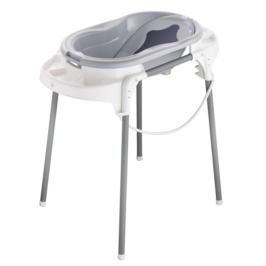 Rotho Baby design TOP badestation i stengrå 4-delt