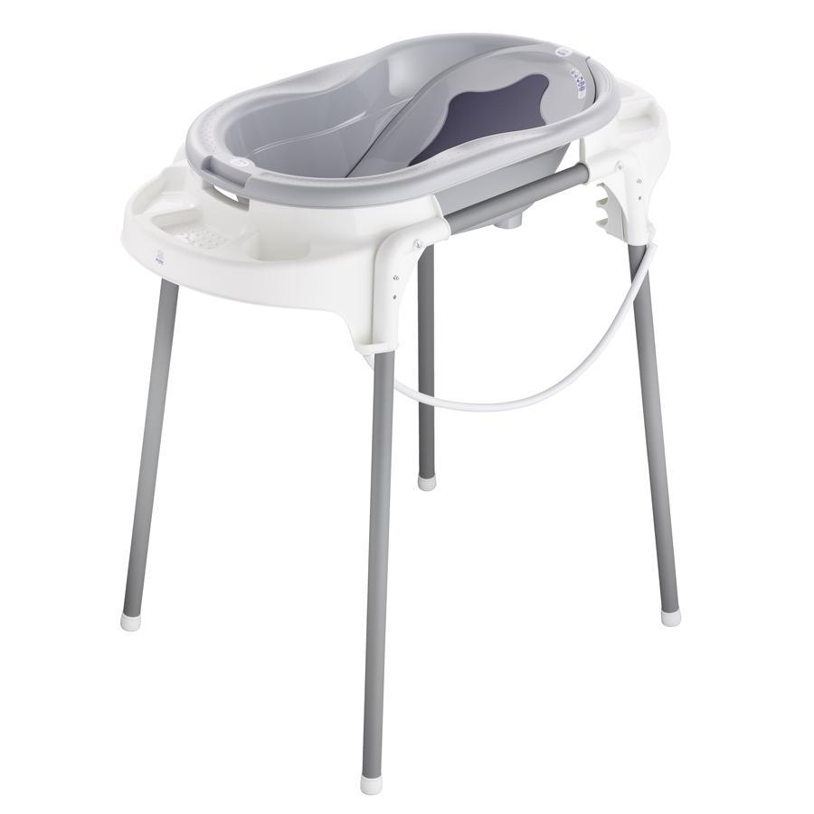 Rotho Baby design TOP badstation i stengrå 4-delad