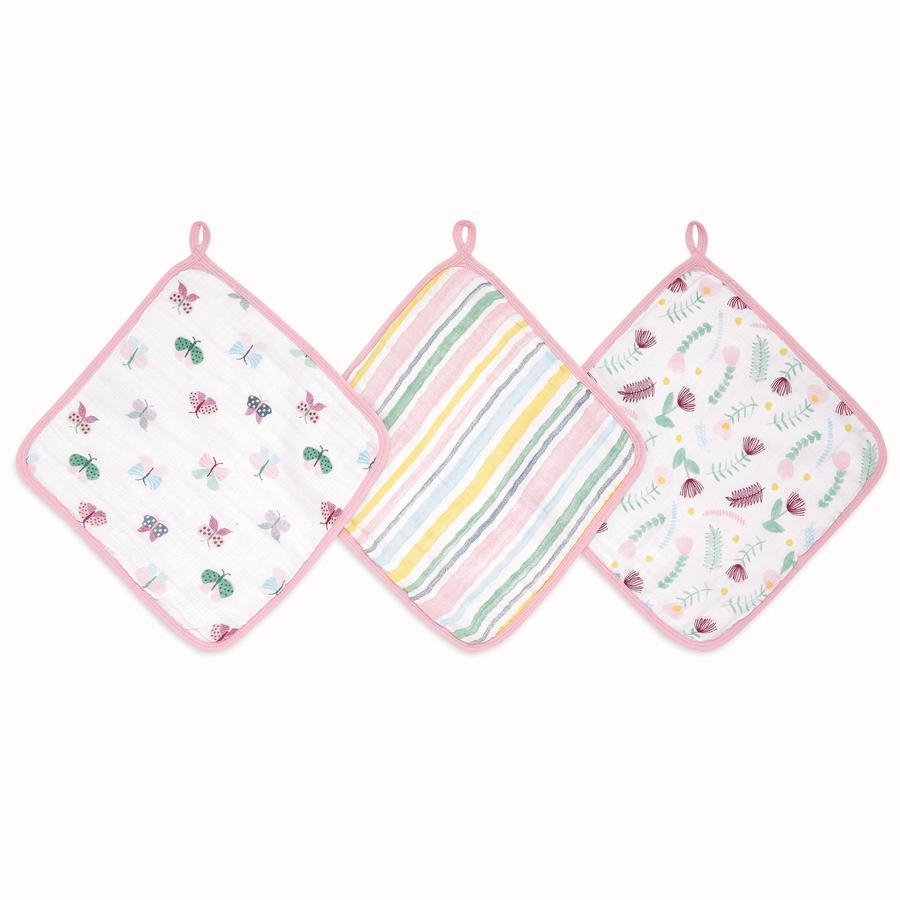 aden® Disney vaskeklut floral fauna 3-pakke
