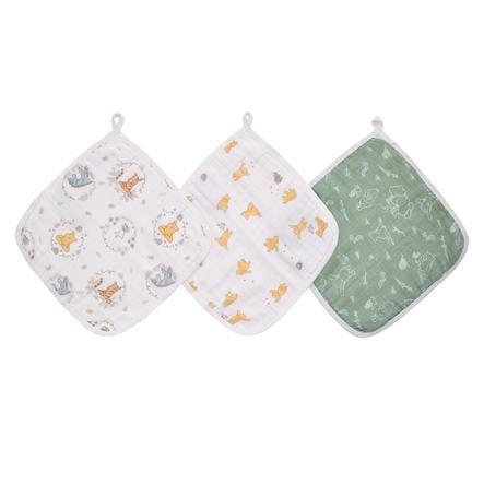 aden ® Paño de lavar de Disney Winnie + friends paquete de
