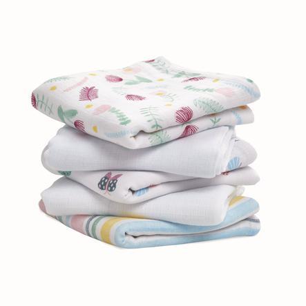 aden ® Spuwende doeken floral fauna 5 pack