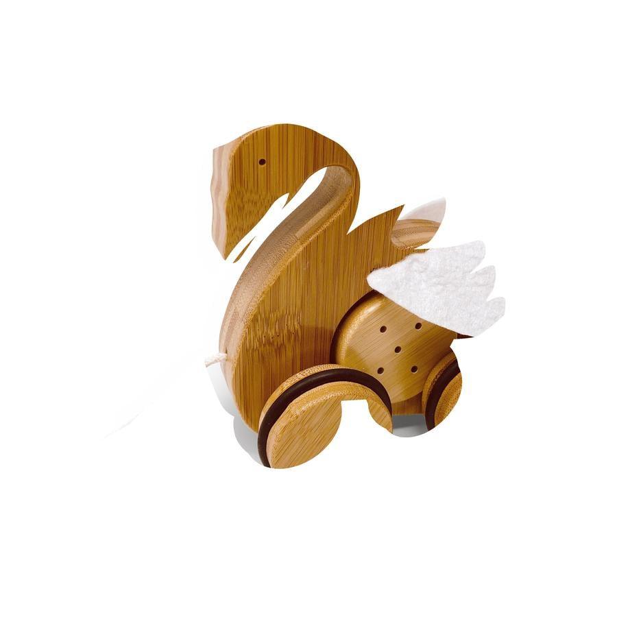 Kinderfeets® Jouet à tirer cygne, bambou