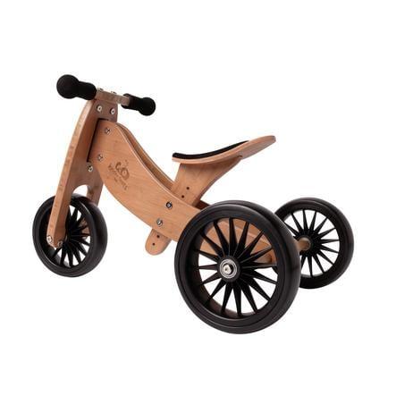 Kinderfeets® Tricycle enfant évolutif 2en1 Tiny Tot Plus, bois bambou