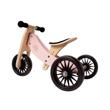 Kinderfeets ® 2 w 1 Rowerek trójkołowy Tiny Tot Plus, różowy