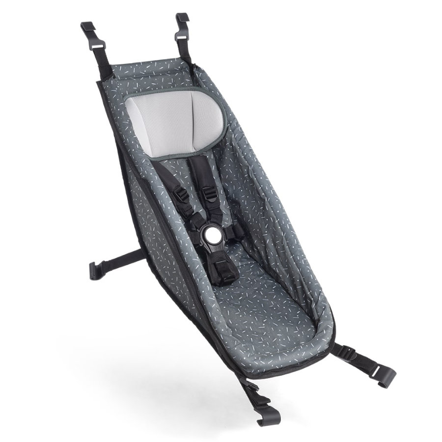 CROOZER Babysitz für Kid Modelle Graphite blue/white