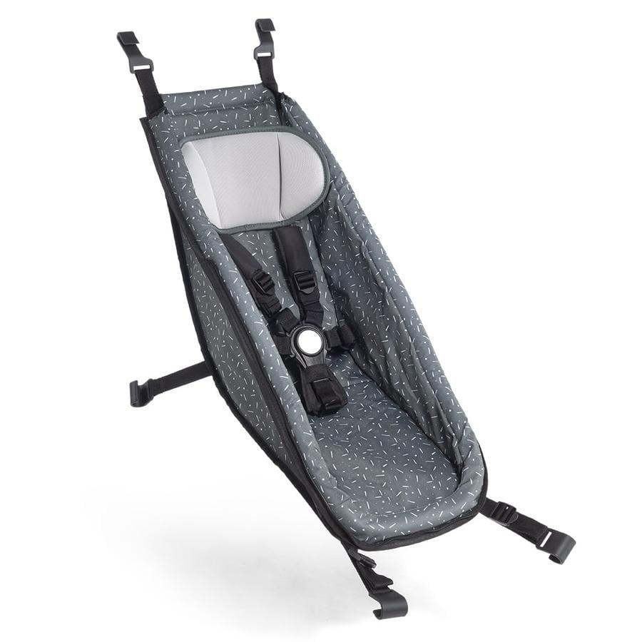 CROOZER Siège bébé de remorque vélo enfant Kid Graphite blue/white 2020