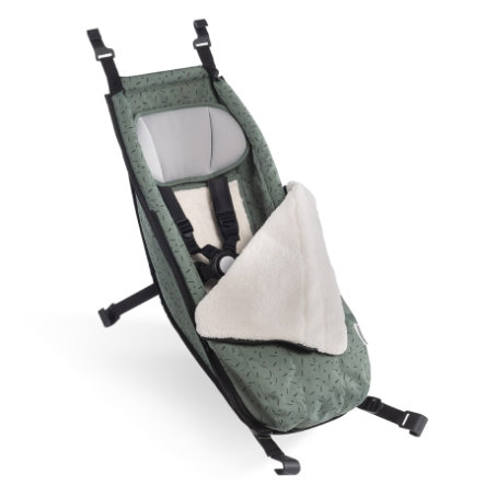 CROOZER Vauvanistuin ja talvisetti Jungle green/black