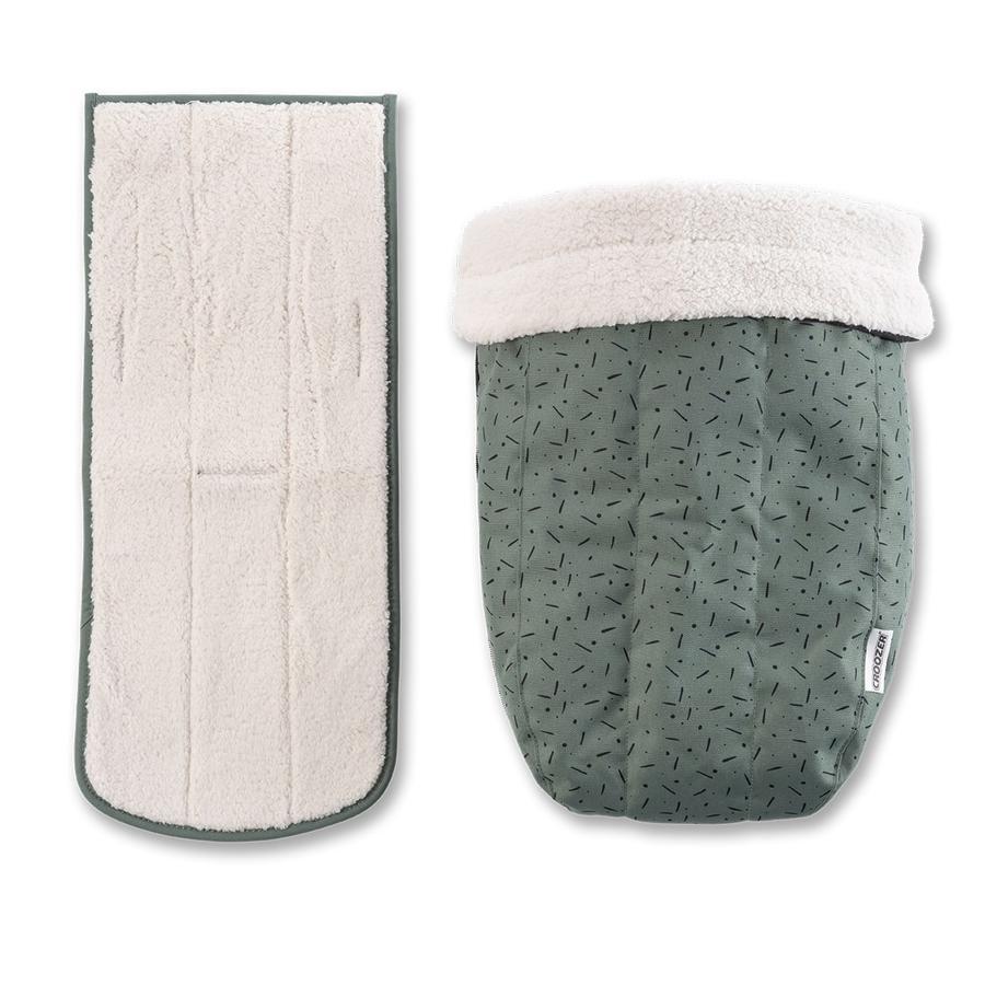CROOZER Set de invierno para el asiento del bebé Jungla green / black