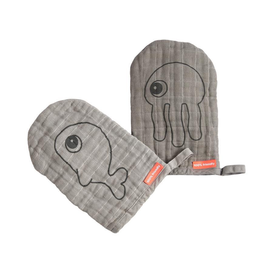 Done by Deer ™ Prací rukavice 2-Pack Grey