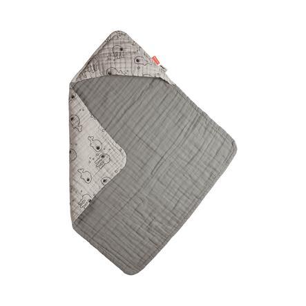 Done by Deer ™ Asciugamano da bagno con cappuccio grigio