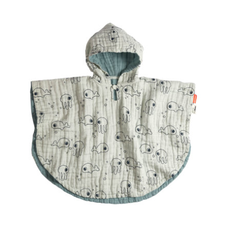 Done by Deer™ Badeponcho Blue