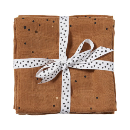 Done by Deer ™ Panno da rutto 2-pack Dream y dots Mustard