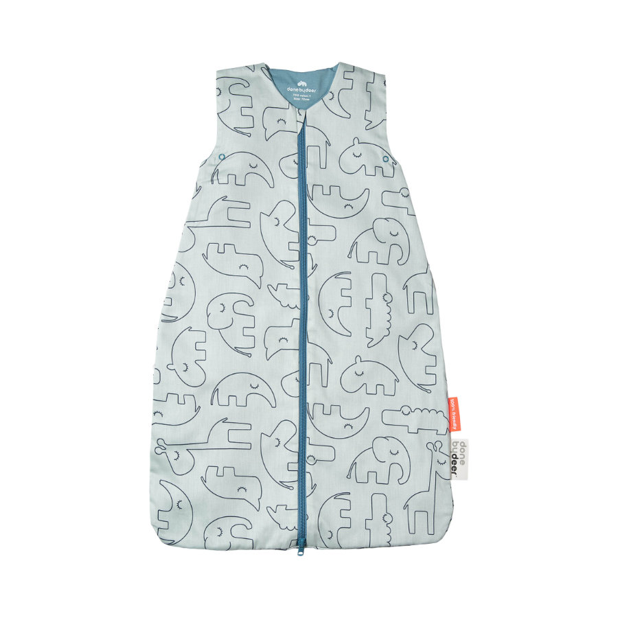 Done by Deer™ Sommer-Schlafsack Sleepy Friends Blau