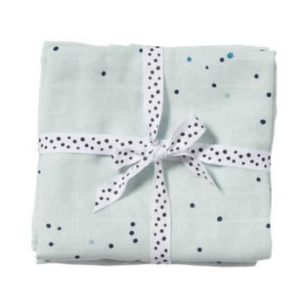 Done by Deer™ Spucktuch 2er-Pack Dreamy dots Blau