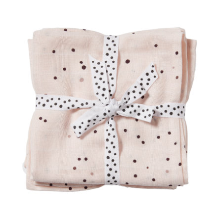 Done by Deer™ Pucktuch 2er-Pack Dreamy dots Puder