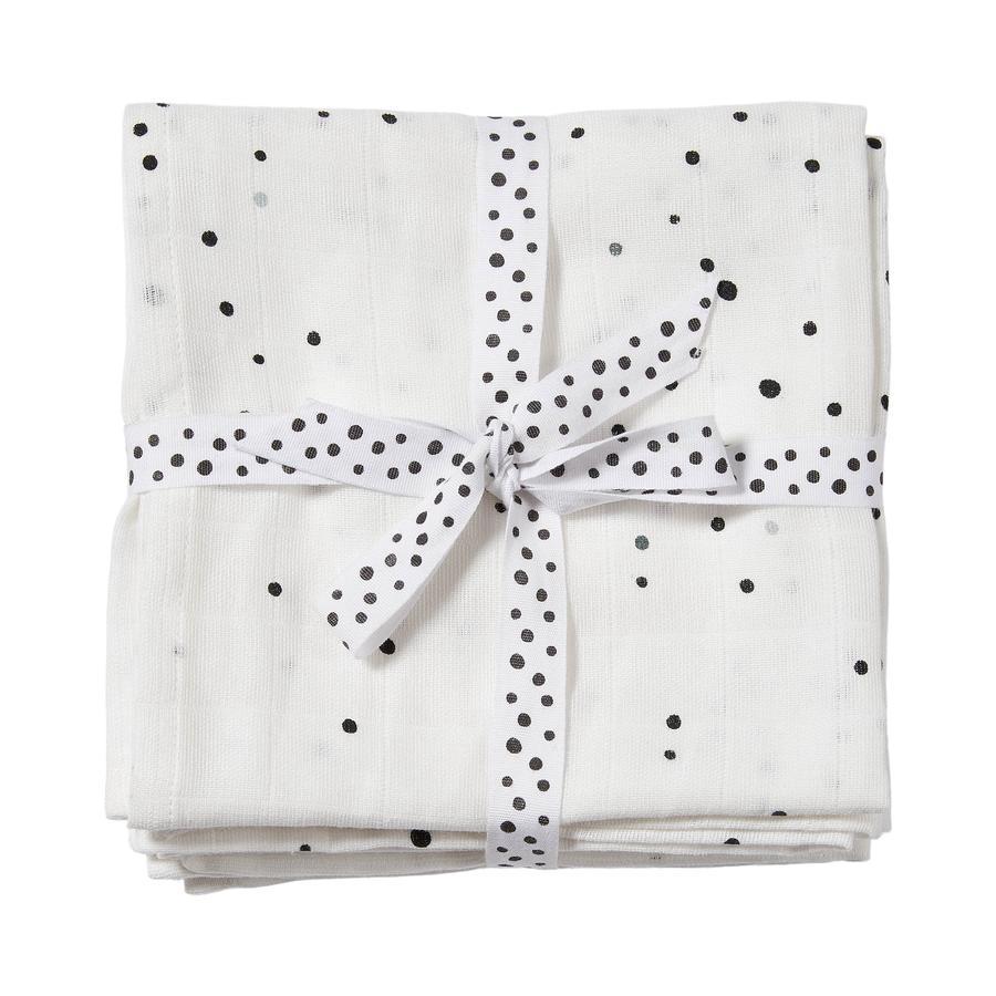 Done by Deer ™ Ręcznik do plucia 2-pak Dream i kropki Biały