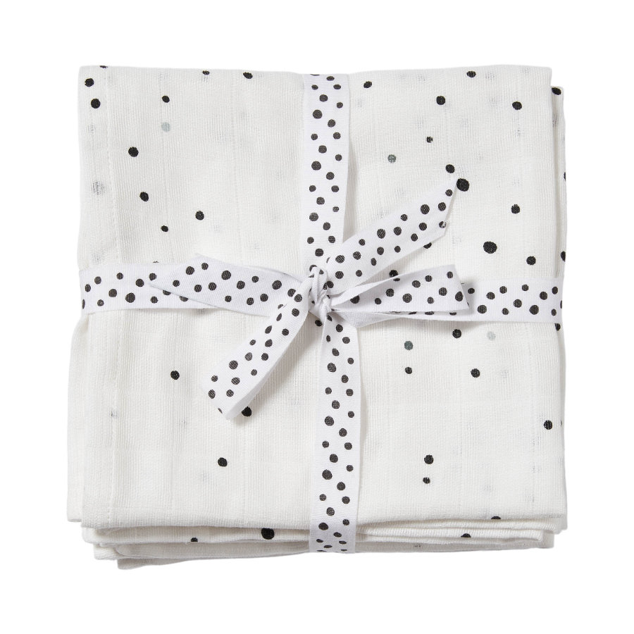 Done by Deer ™ Spit Håndklæde 2-pak Dream y dots White