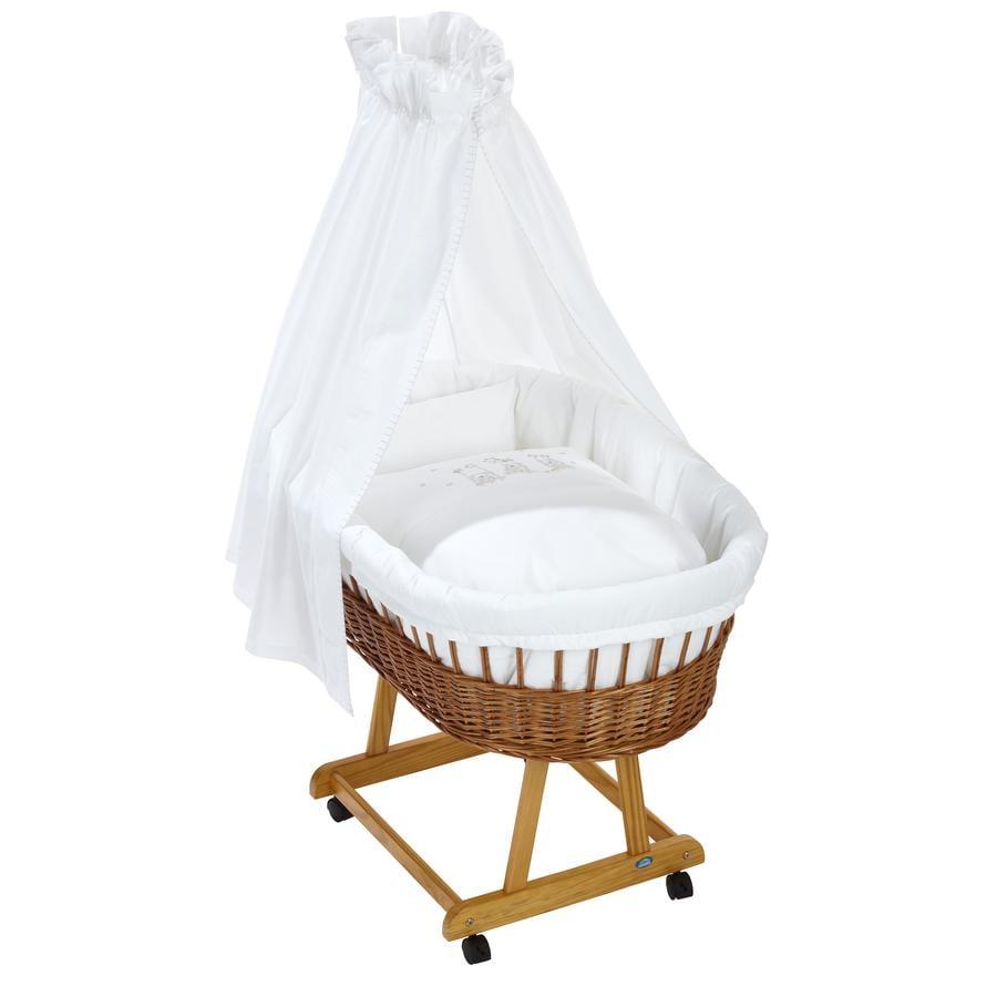 Alvi® Komplettstubenwagen Birthe natur, Bär auf Schaukel