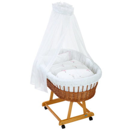 Alvi ® Complete Birth bassinet e natural, Flamingo
