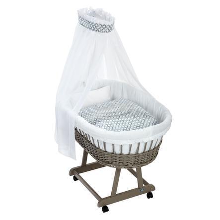 Alvi® Komplettstubenwagen Birthe taupe, Mosaik