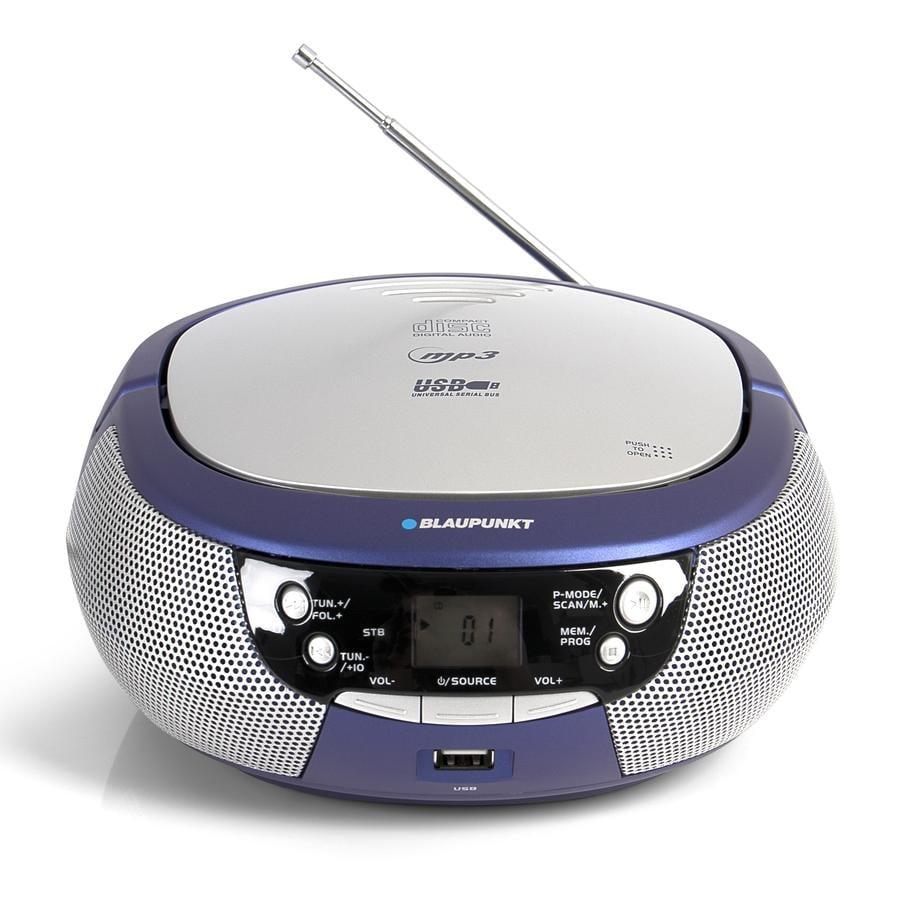 BLAUPUNKT Lecteur CD radio enfant Boombox mp³ USB, bleu