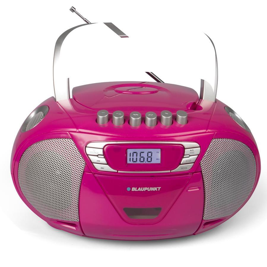 BLAUPUNKT Boombox mit CD und Kassette, pink