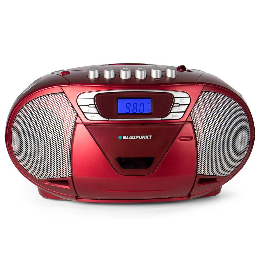 BLAUPUNKT Boombox mit CD und Kassette, rot