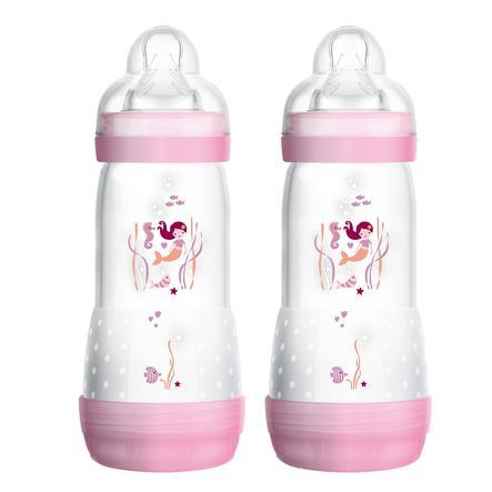 MAM Biberón Easy Start Rosa anticólico 320 ml 4+ meses