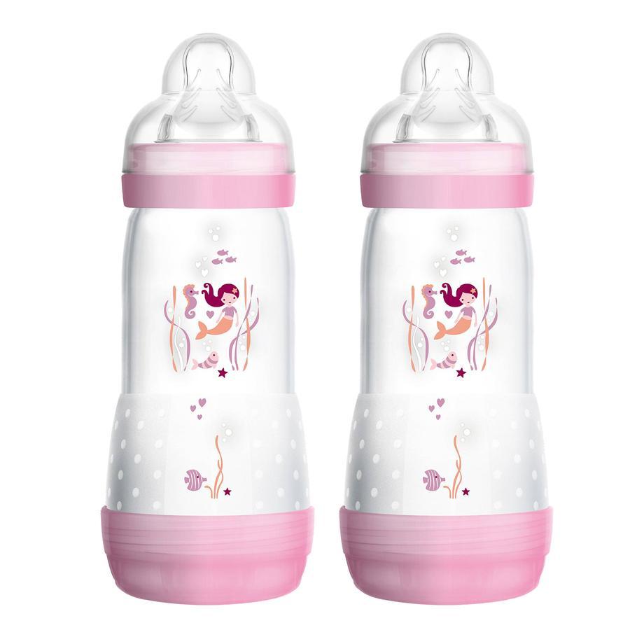 MAM dětská láhev Easy Start Anti-Colic růžová 320 ml 4+ měsíců