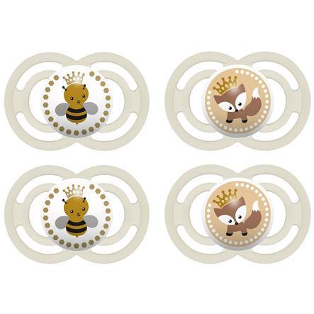 MAM Succhietto Perfect in silicone 6 - 16 mesi, set da 4 beige