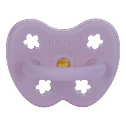 HEVEA Fopspeen - Natuurrubber / Lavendel / den / bloem (vanaf 3 maanden)