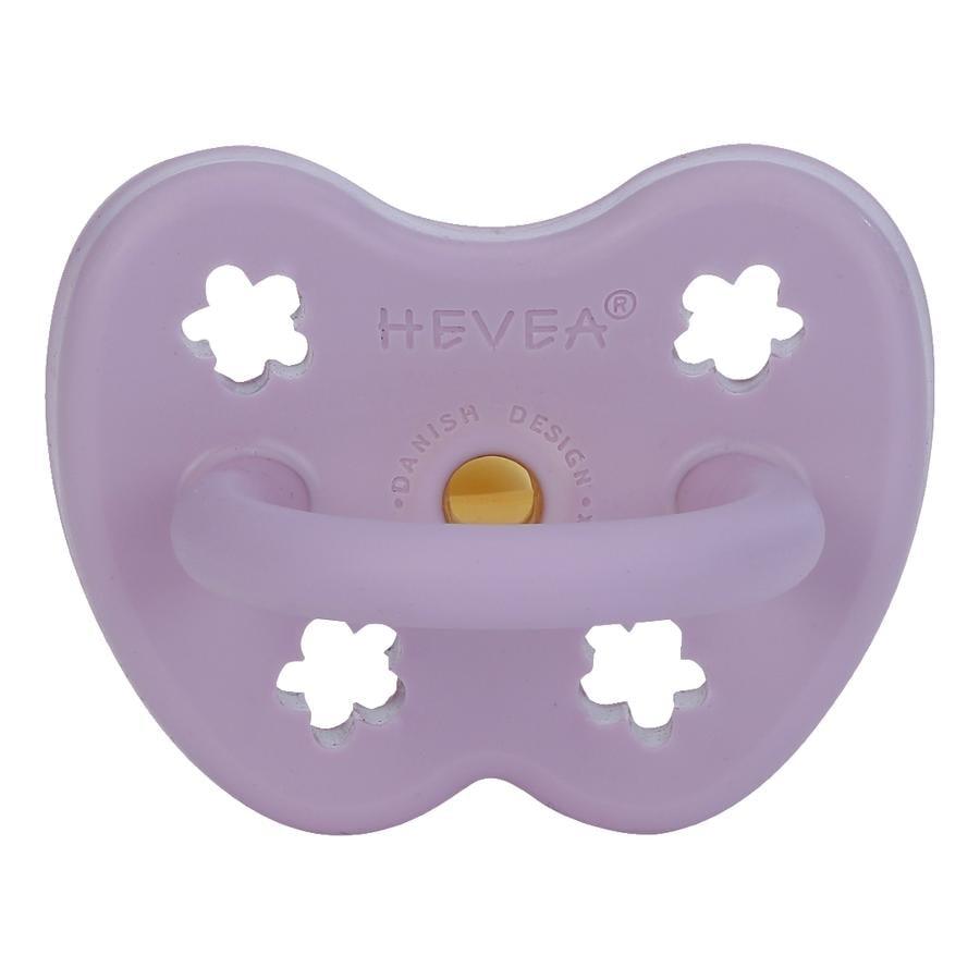 HEVEA Sucette 3 m+ caoutchouc naturel lavande/orthodontique/fleur