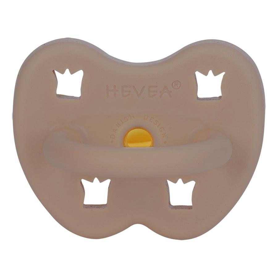HEVEA Soother - Naturgummi / fudge / orthodontic / krone (fra 3 måneder)