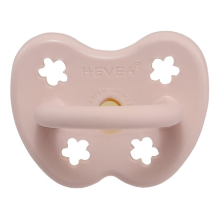 HEVEA Smoczek - Kauczuk naturalny / Powder Różowy / sosnowy / kwiat (0-3 mon.)