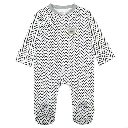 STACCATO Pyjama 1tlg. weiß Alloverprint