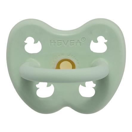 HEVEA Succhietto - gomma naturale / menta pastosa / ortodontico / anatra (0-3 lun.)