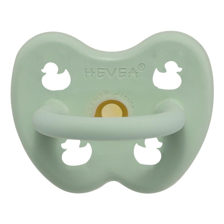 HEVEA Smoczek - guma naturalna / delikatna mięta / ortodontyczny / kaczka (0-3 mon.)
