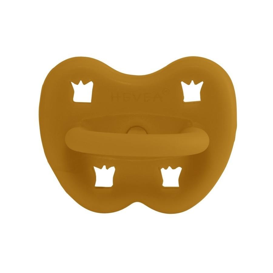 HEVEA Sucette 3 m+ caoutchouc naturel Turmeric/orthodontique/couronne