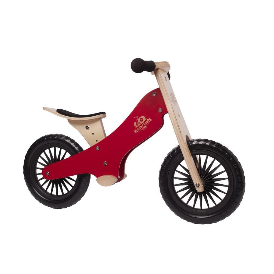 Kinderfeets Bicicleta impulsor madera rojo