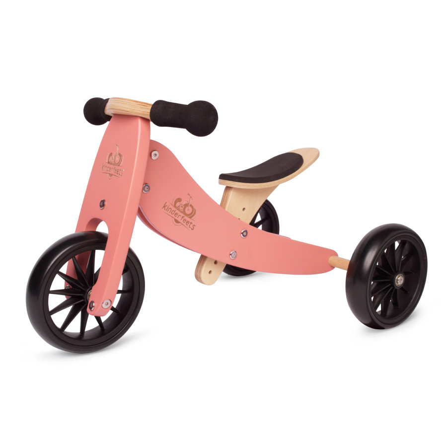 Kinderfeets ® 2 w 1 Tricycle Tiny Tot, korall