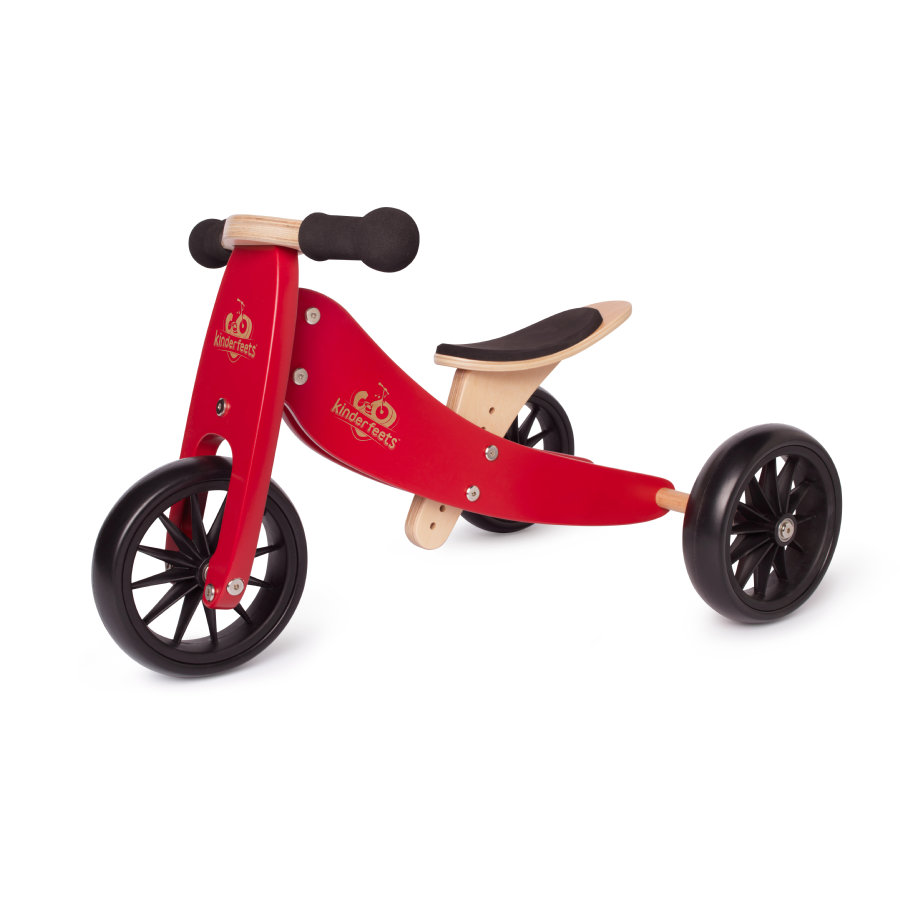 Kinderfeets ® 2-i-1 trehjulssykkel Tiny Tot, rød