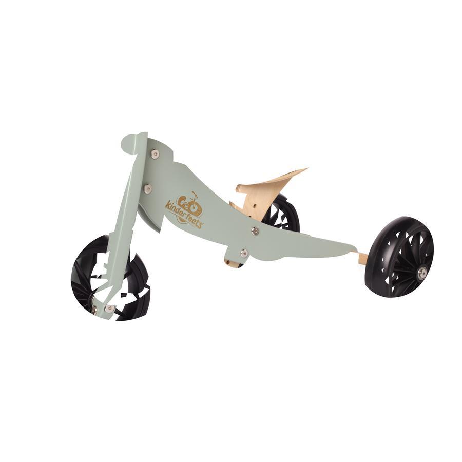Kinderfeets® Tricycle enfant évolutif 2en1 Tiny Tot, bois turquoise