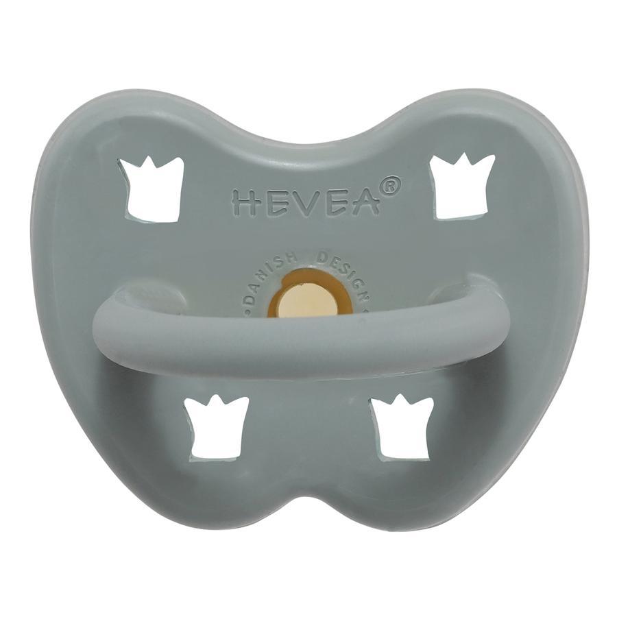 HEVEA Soother - Naturgummi / Nydelig grå / kjeveortopedisk krone (fra 3 måneder)