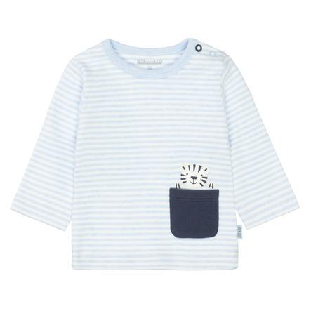 STACCATO Shirt aqua melange gestreift
