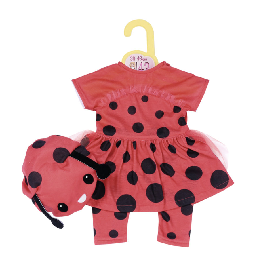 Dolly Moda sweet ladybird outfit 43cm