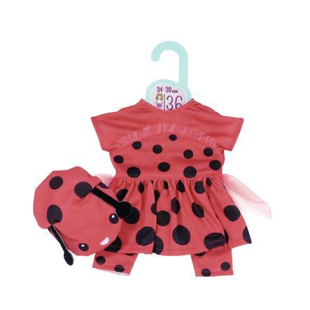 Zapf Creation Dolly Moda söt nyckelpigaoutfit 36cm