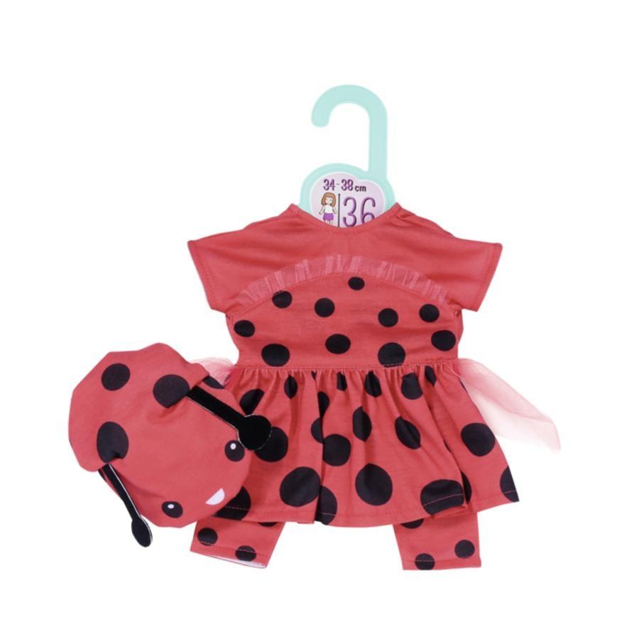 Zapf Creation  Dolly Moda vestito dolce coccinella 36cm