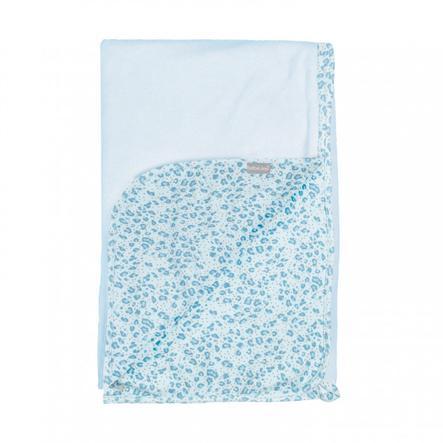 bébé jou® Multi-cloth Leopard Blue 100 x 75 cm