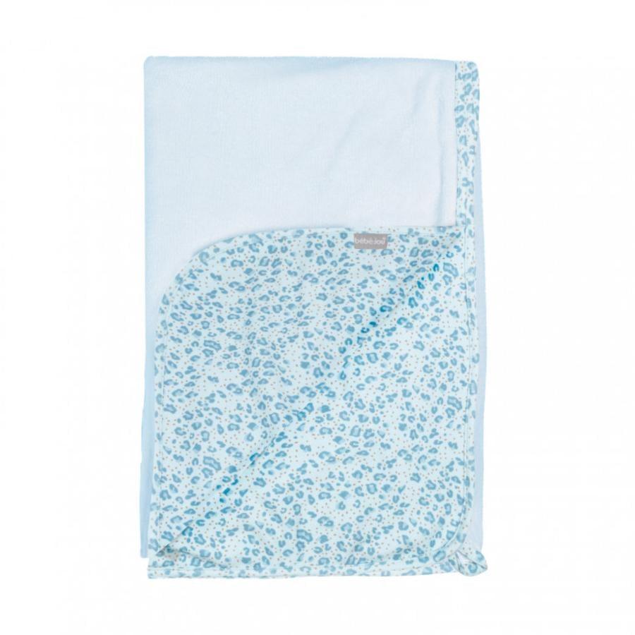 bébé jou® Multi-Tuch Leopard Blue 100 x 75 cm