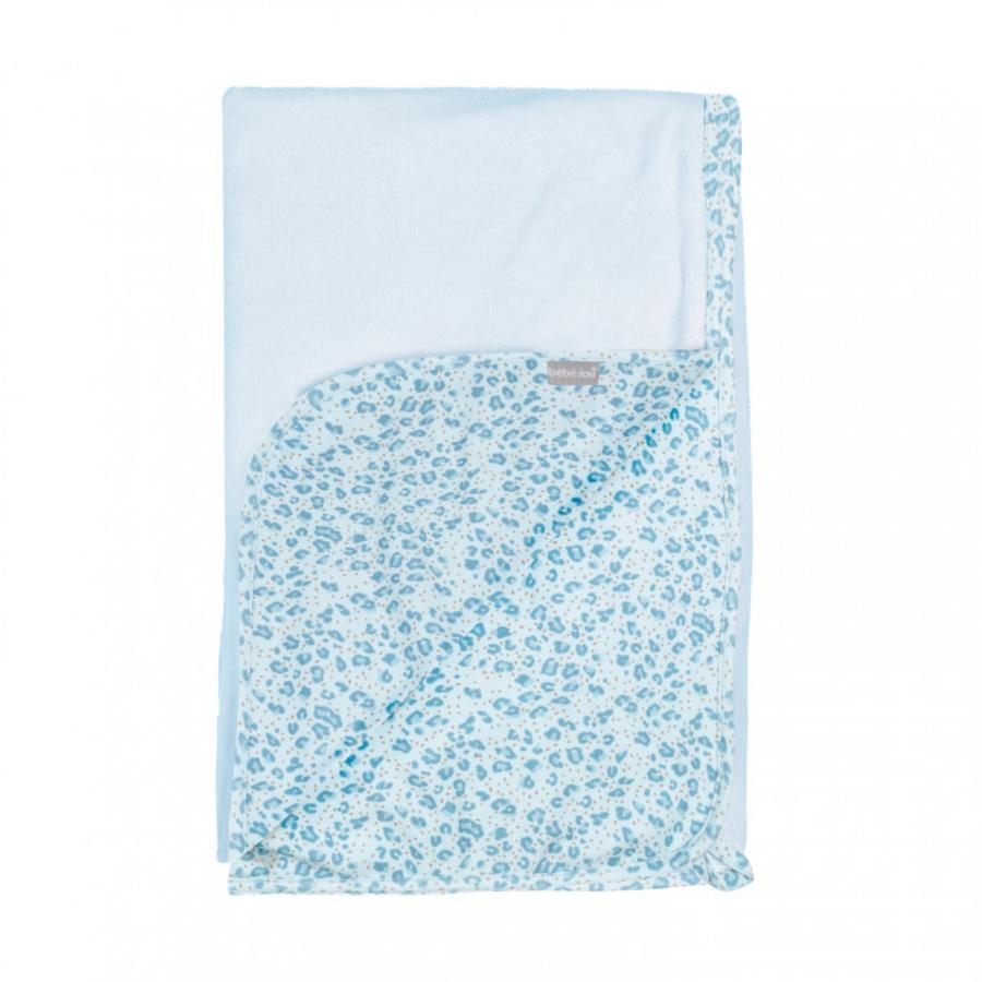 bébé jou® Multicloth Leopard Blue 100 x 75 cm